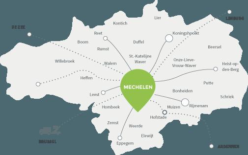 Verhuiskaart Van Hoevelen, de gekende verhuizer in het Mechelse